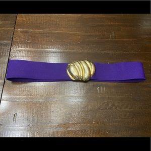 Accessories - (3/$20)Belt~  Vintage 90's Purple, Gold Buckle